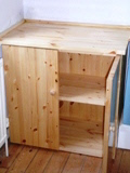 Purposemade pine shelves